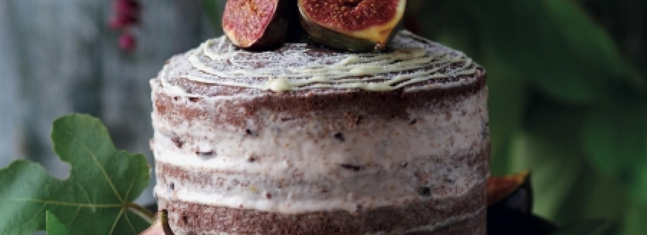 Chocolate Fig Naked Cake Recipe via Red Online UK