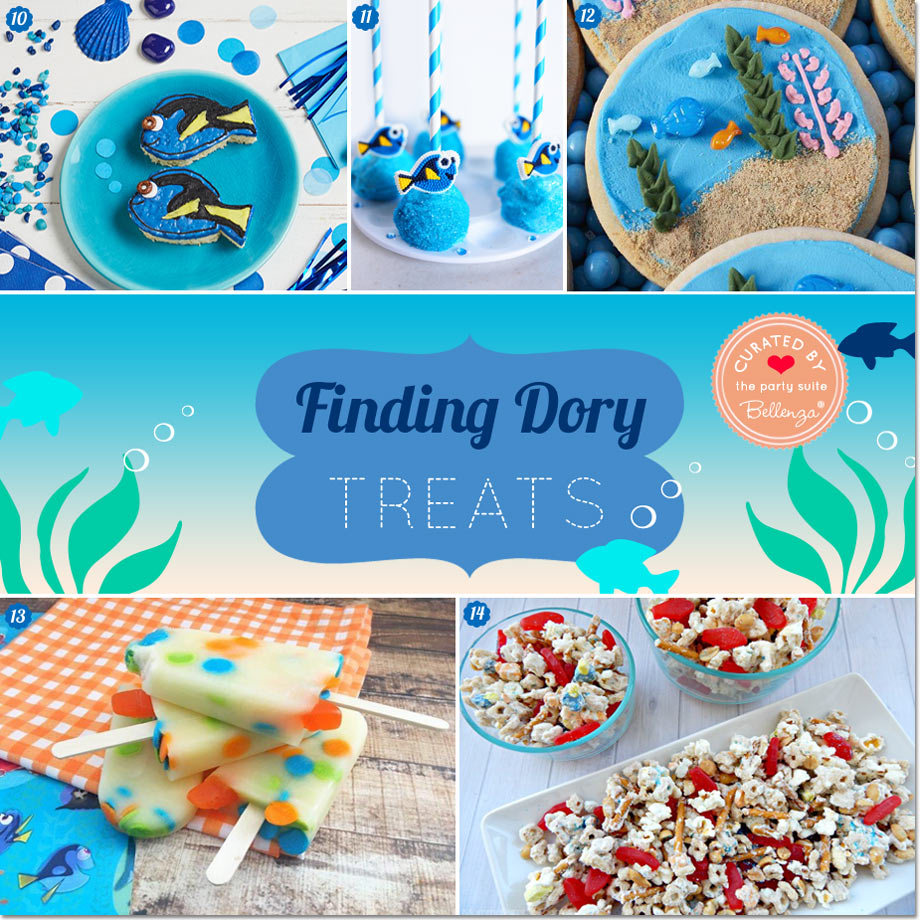 Finding Dory Party Treats. 14 Goodies You Can Make at Home!