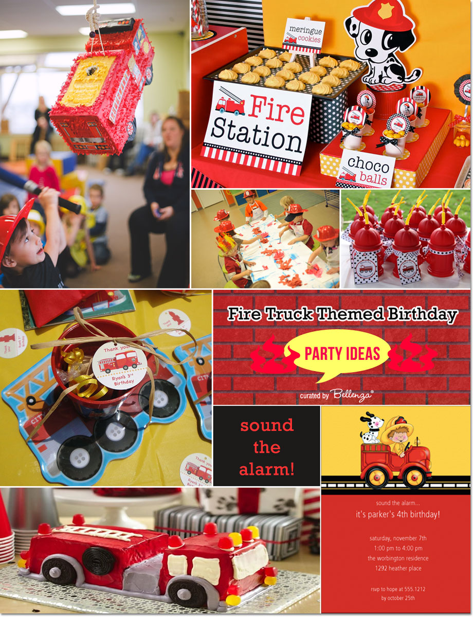 It's a fire trucks' themed birthday party | as featured on the Party Suite at Bellenza.