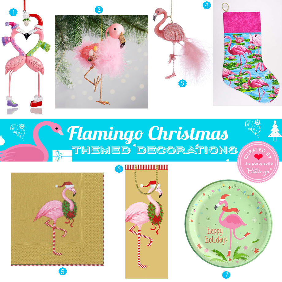 Whimsical Flamingo Christmas Decorations from Pink Ornaments to Stockings