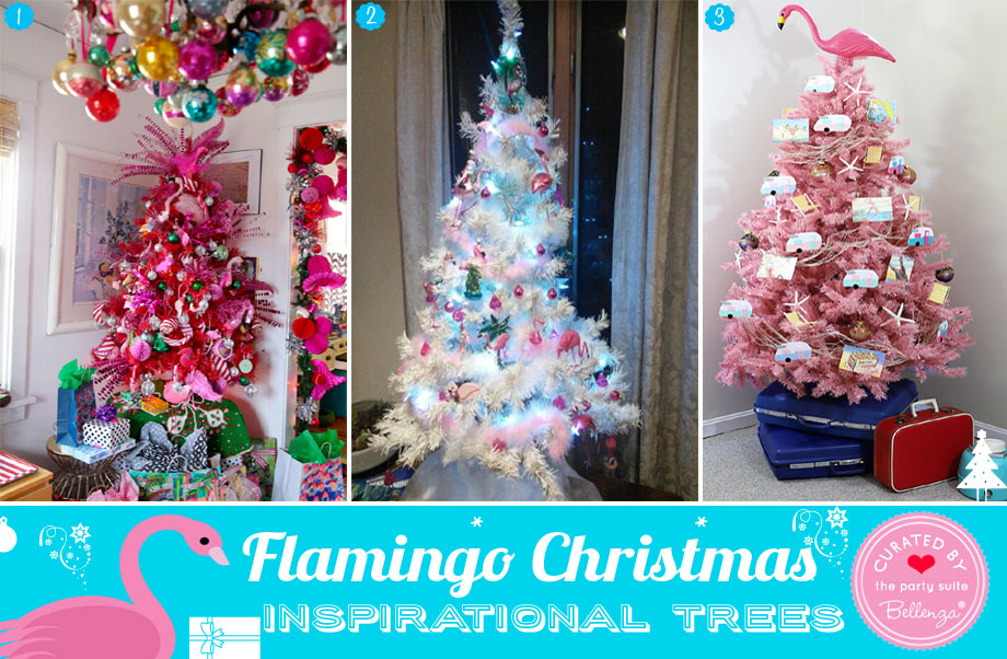 Pink and White Flamingo Christmas Tree Inspiration