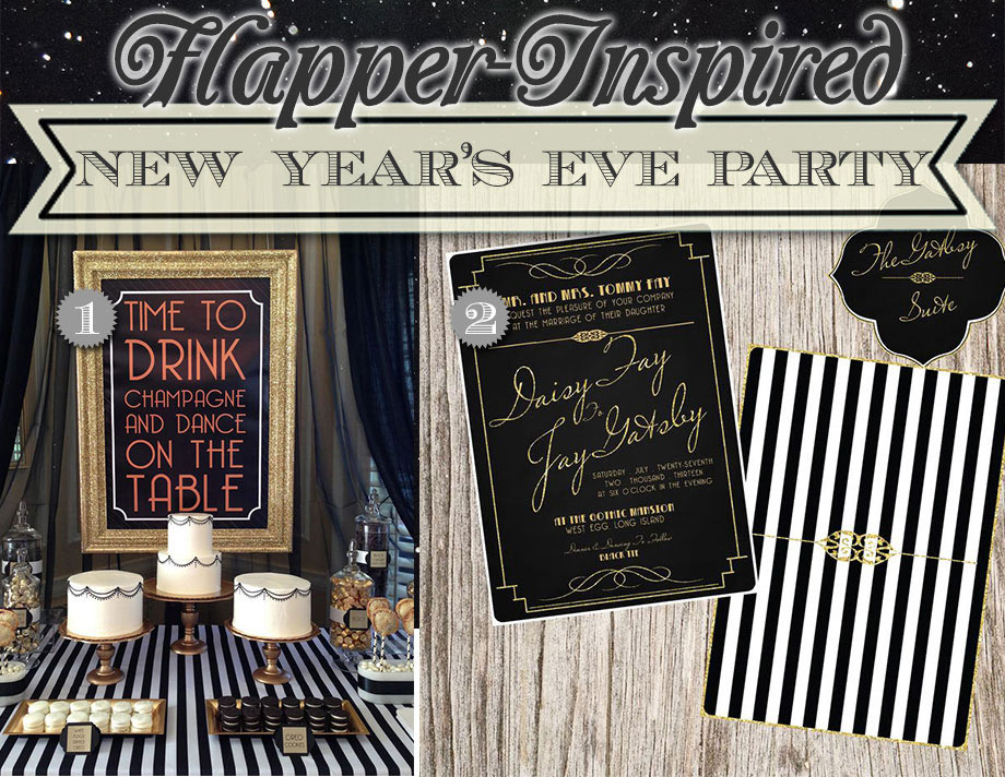 Black and gold flapper theme birthday