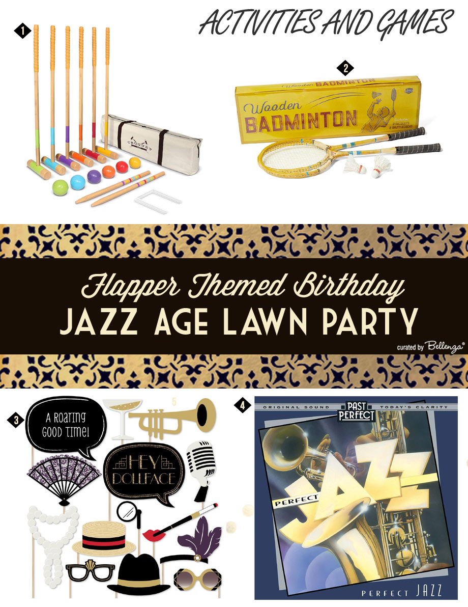 Flapper Themed Birthday Party Activities for Summer