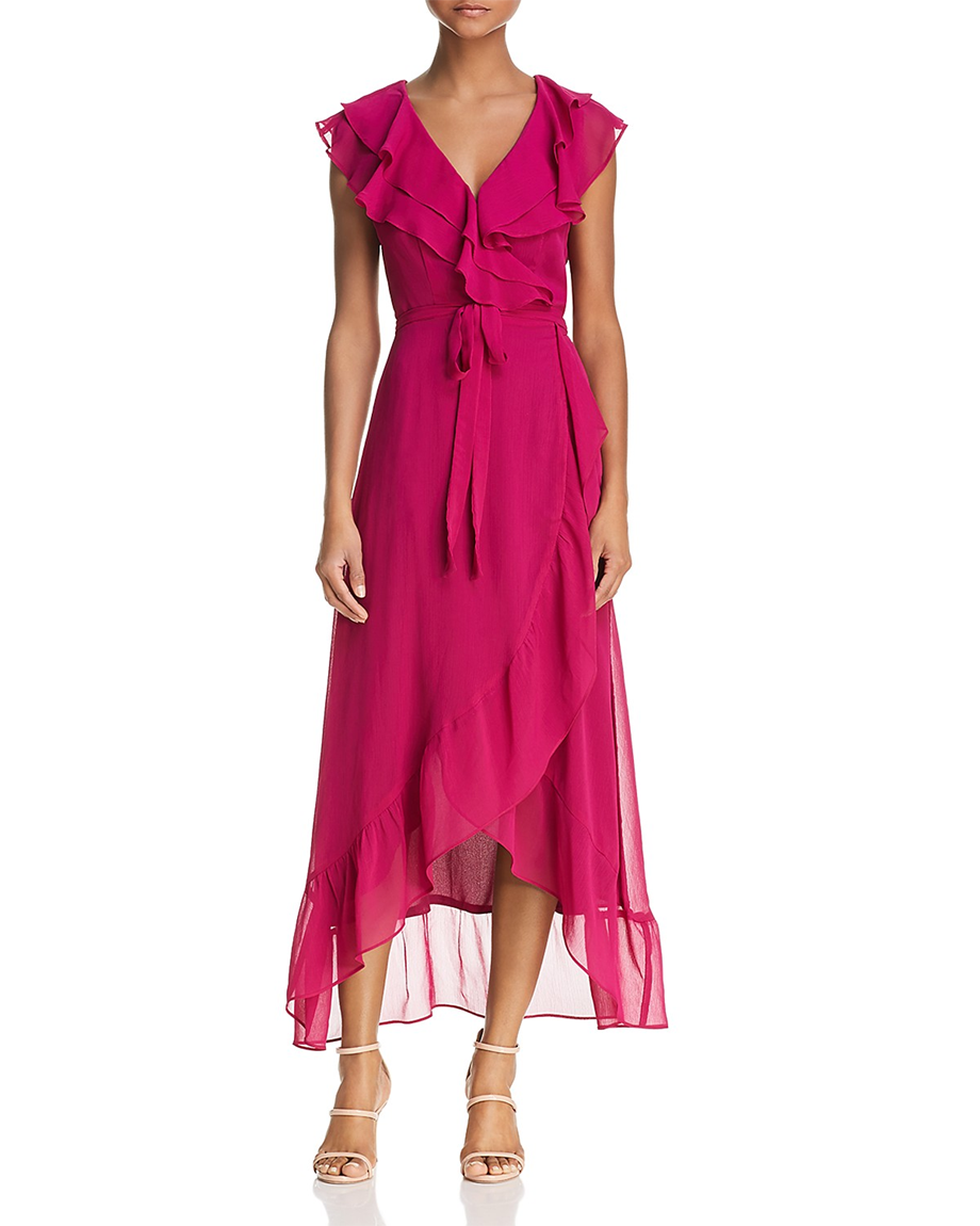 flutter dress via bloomingdale's