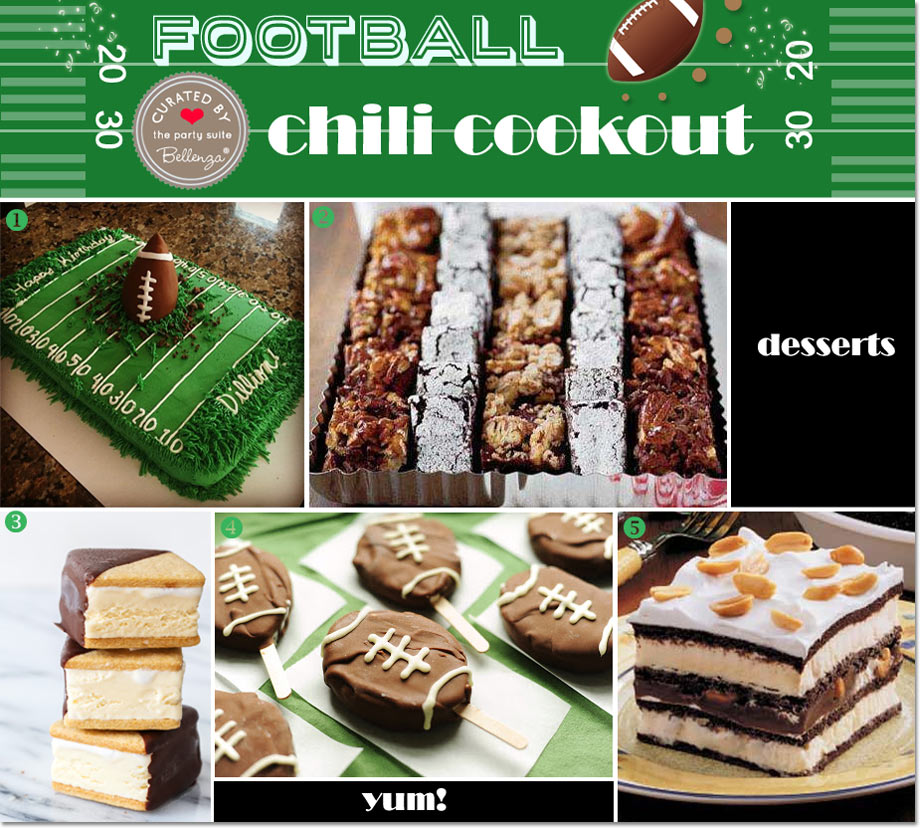 Football cakes to S'mores ice cream sandwiches.