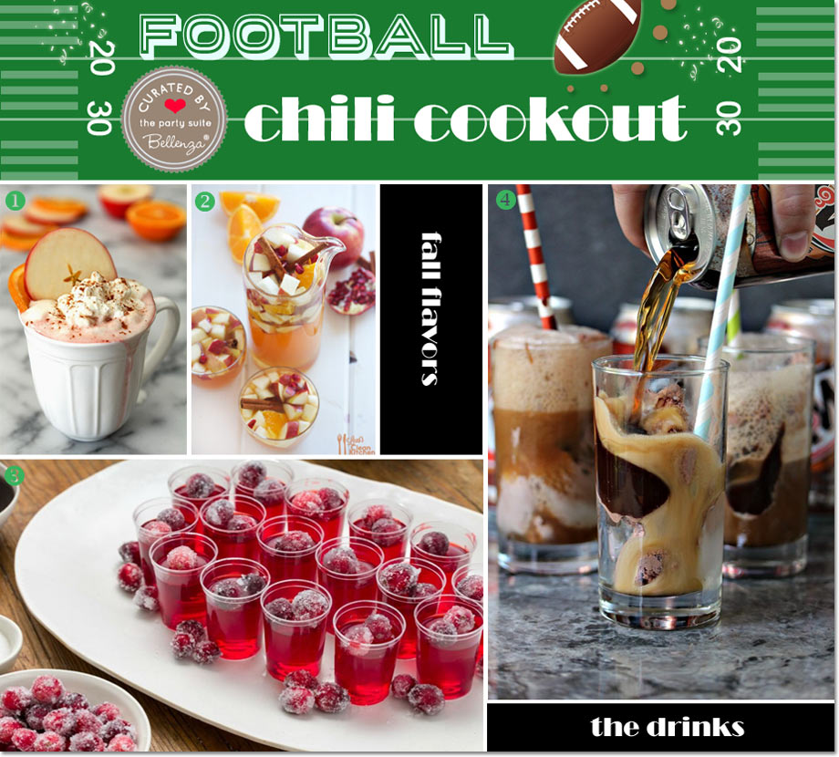 Football Chili Drinks to Serve From Rootbeer Floats to Cranberry Jello.