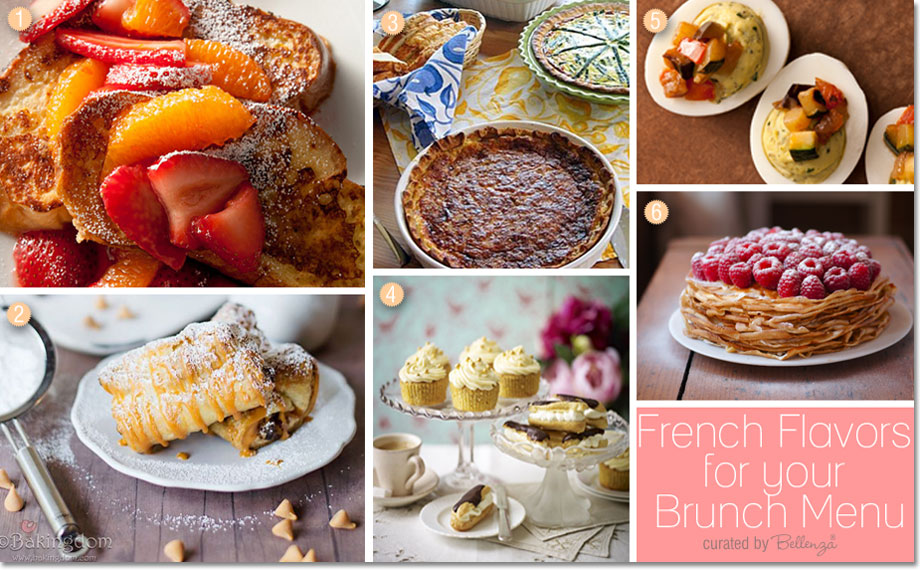 French brunch menu ideas from quiche to croissants to French toast