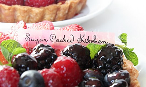 Fresh berry tarts via Sugar Coated Kitchen