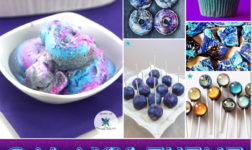 Galaxy party treats from ice cream to glittery donuts // featured on The Party Suite at Bellenza.
