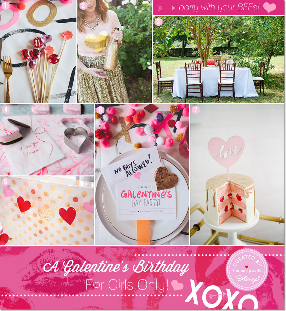 Hearts and Glitter for a Galentine's Birthday Bash   Featured on The Party Suite at Bellenza