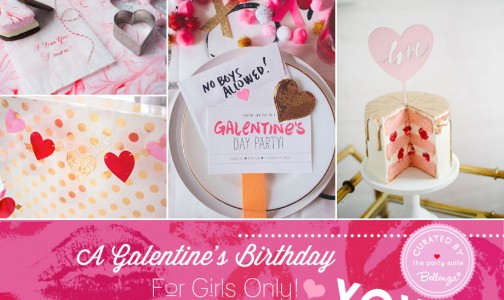 Valentine's theme for a girls-only birthday bash