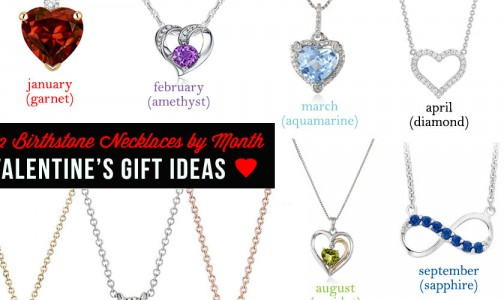 Beautiful Birthstone Necklaces by Month for Valentine's Day Gifts