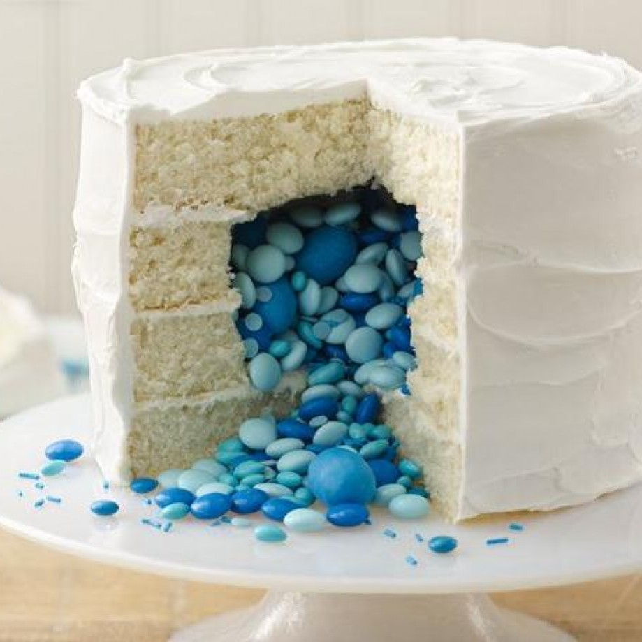 Gender reveal cake. Photo credit Betty Crocker