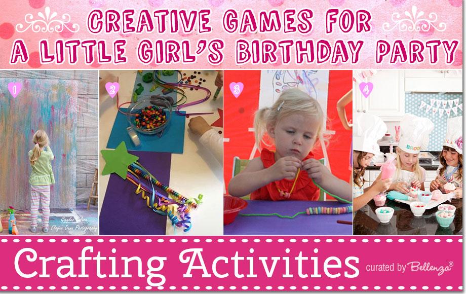 Fun birthday activities for little girls.