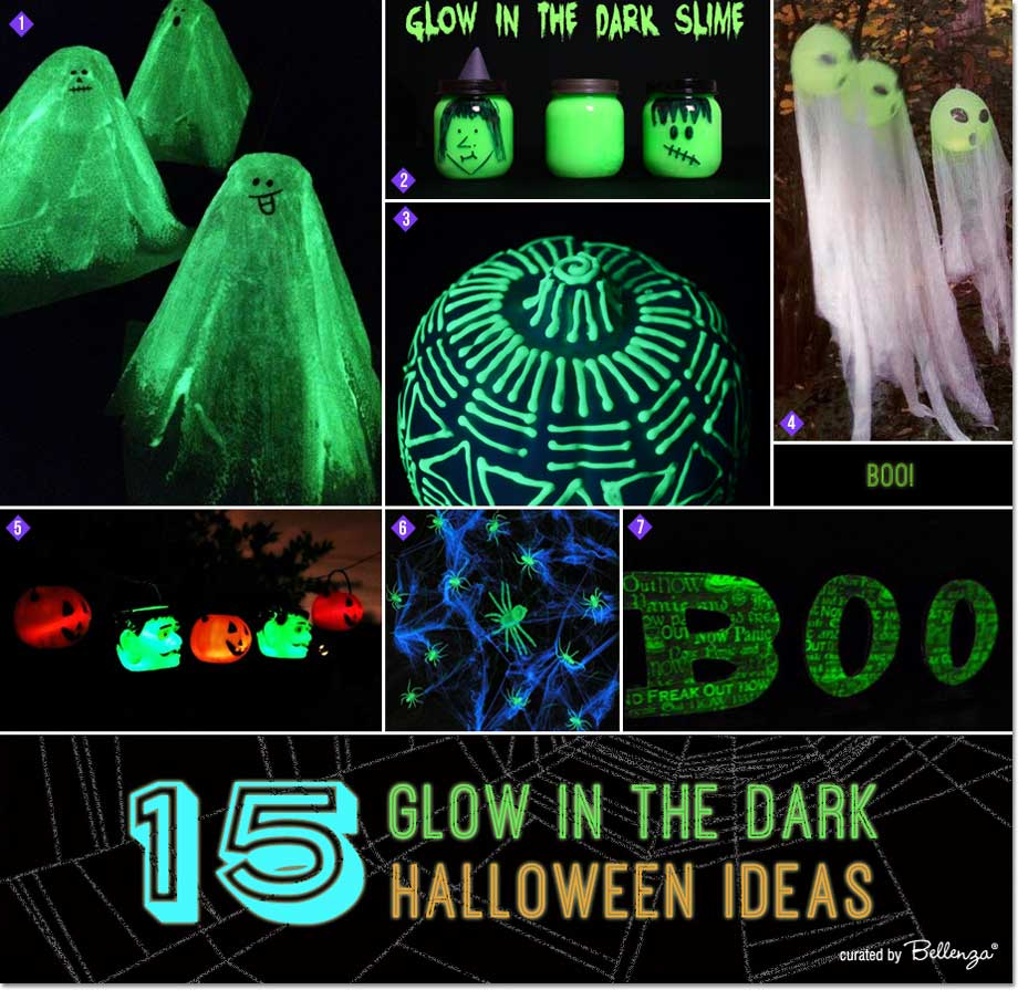 From glowing ghosts to pumpkins, we're featuring 15 impossibly fun glow in the dark Halloween DIY ideas!