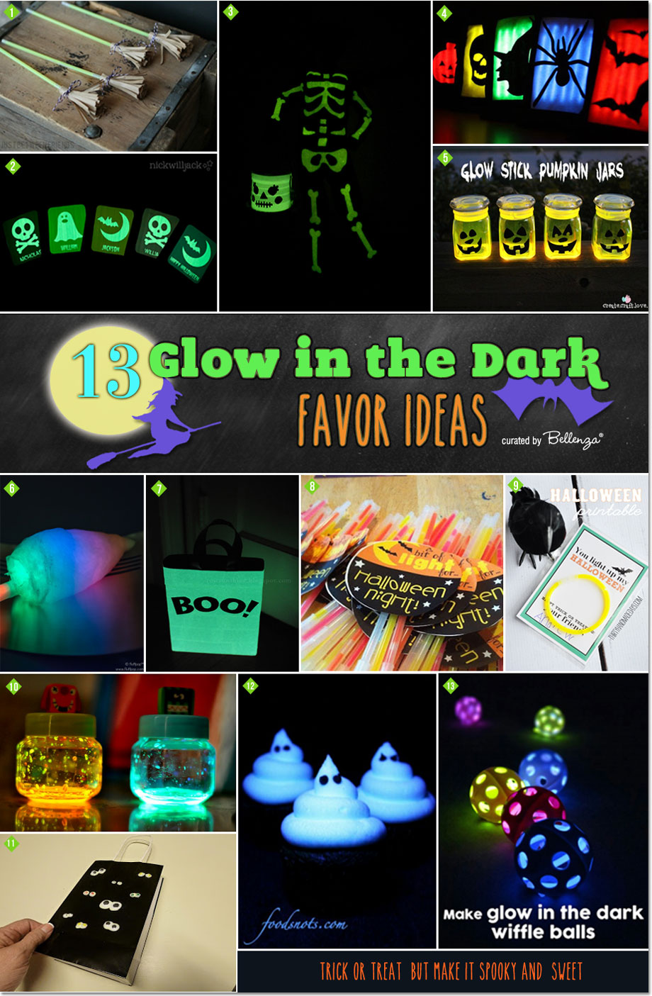 Glow in the Dark Halloween Favors You Can DIY