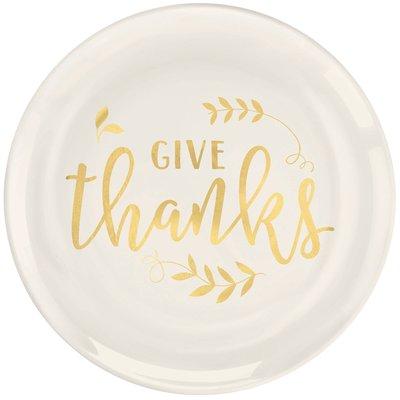 Gold foil dinner plate for thanksgiving