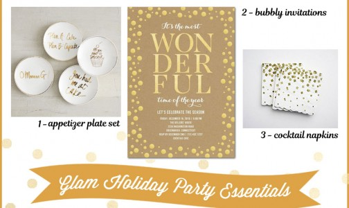 Entertaining Essentials in Gold for a Holiday Cocktail Party