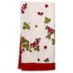 10 - Gooseberry red & green tea towel