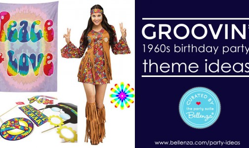 How to Host a Groovin' 60s Birthday Party for Grown-ups with Food, Decor, Costumes, and Favors