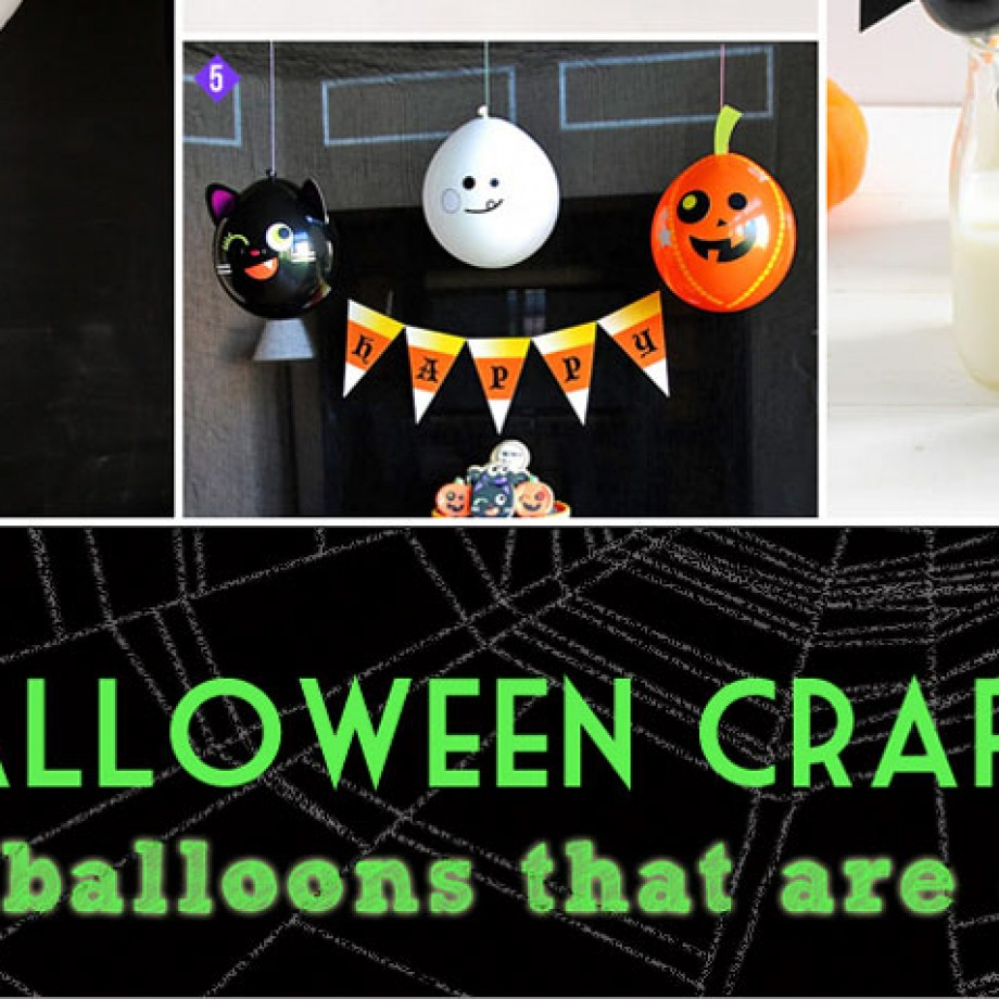 Halloween balloon crafts to make