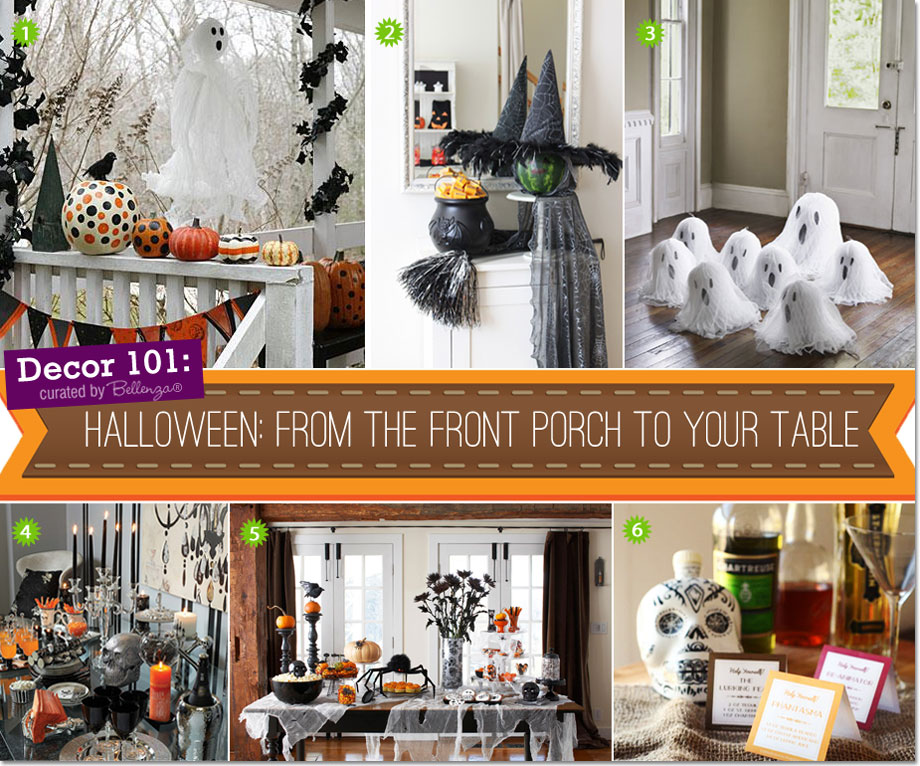 Halloween Decorations from the Front Porch to the Party Table