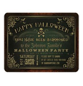 Halloween invite from Zazzle