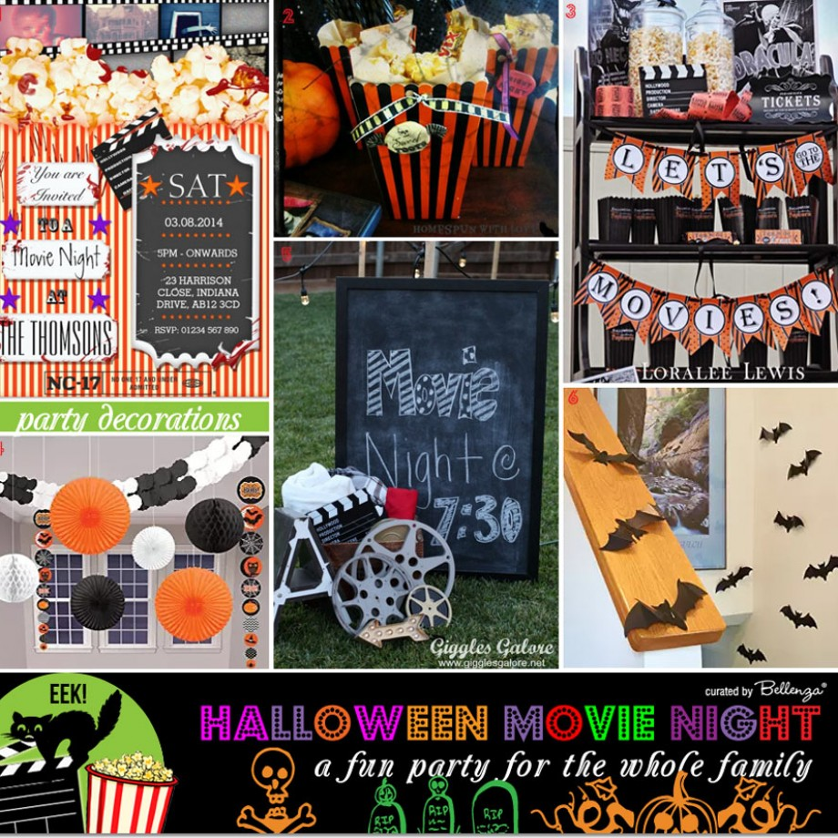 Halloween Movie Night Decorations