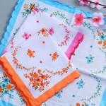 8 - Vintage cotton handkerchiefs