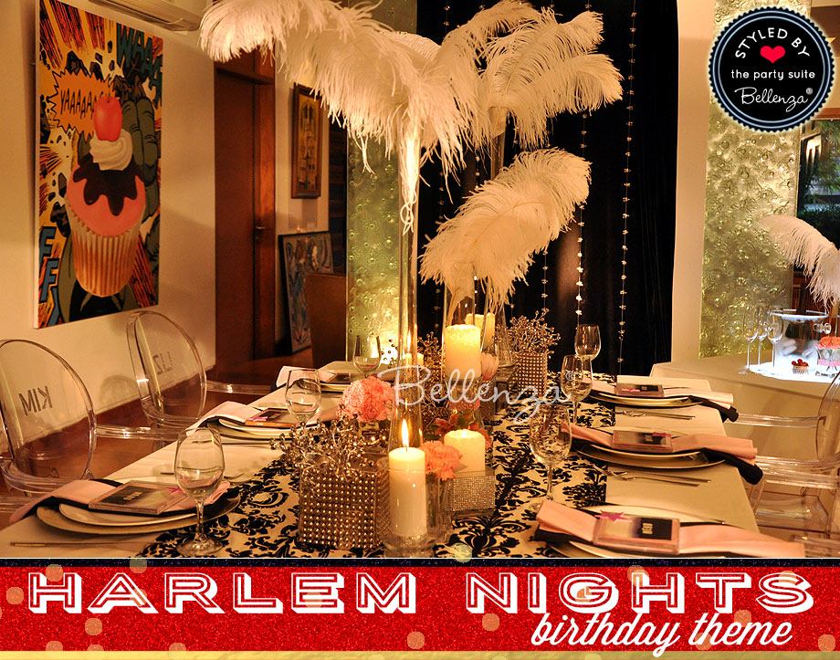 Harlem Nights Birthday Tablescape
