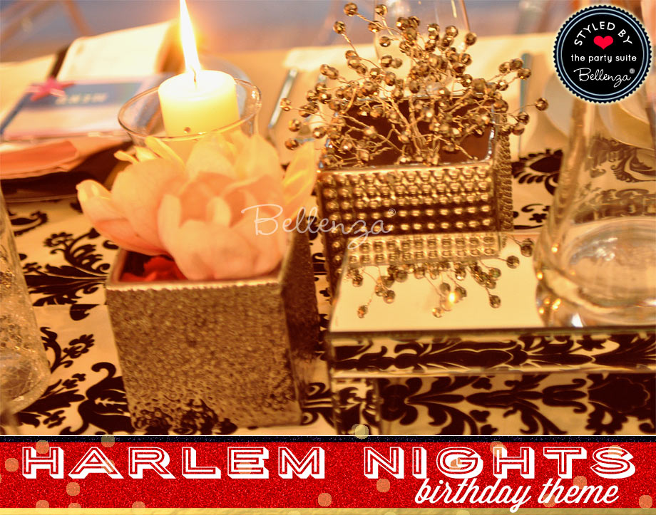 Harlem Nights Birthday Centerpieces