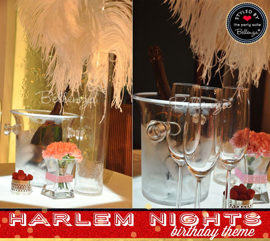 Harlem Nights Birthday Champagne Table