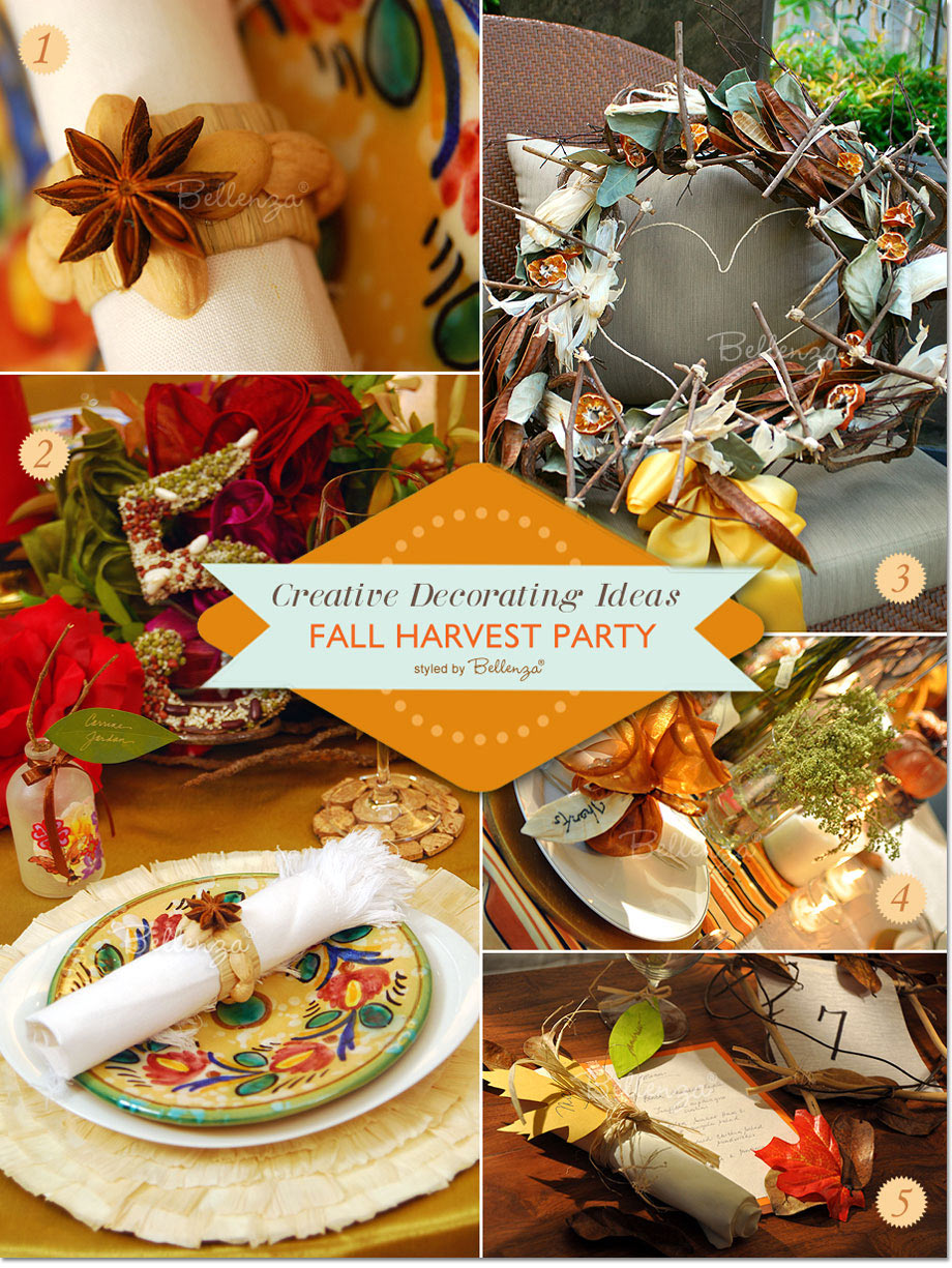 Harvest party with rustic decorations