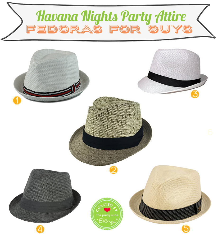 Fedora Hats for a Havana Nights Party