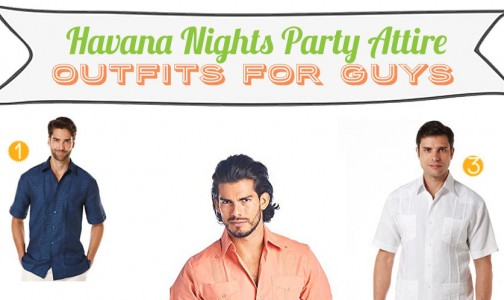 Havana Nights Party Attire for Men, Clothes, Getup