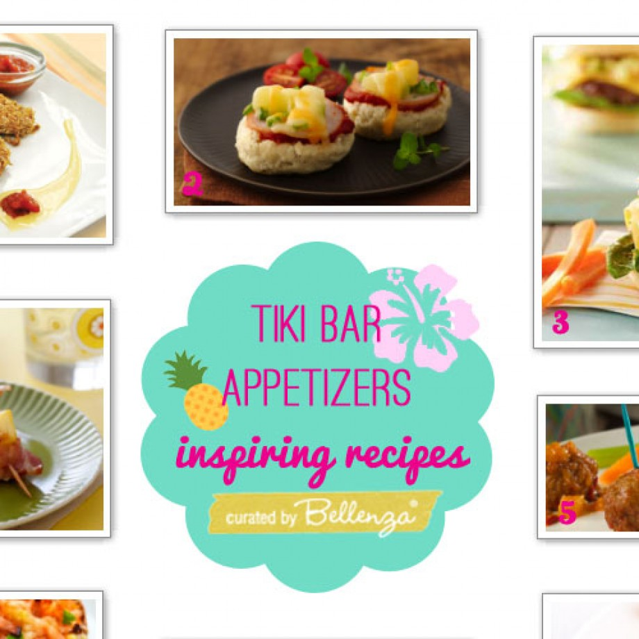 Tiki bar appetizers to make ahead for a Hawaiian luau party.