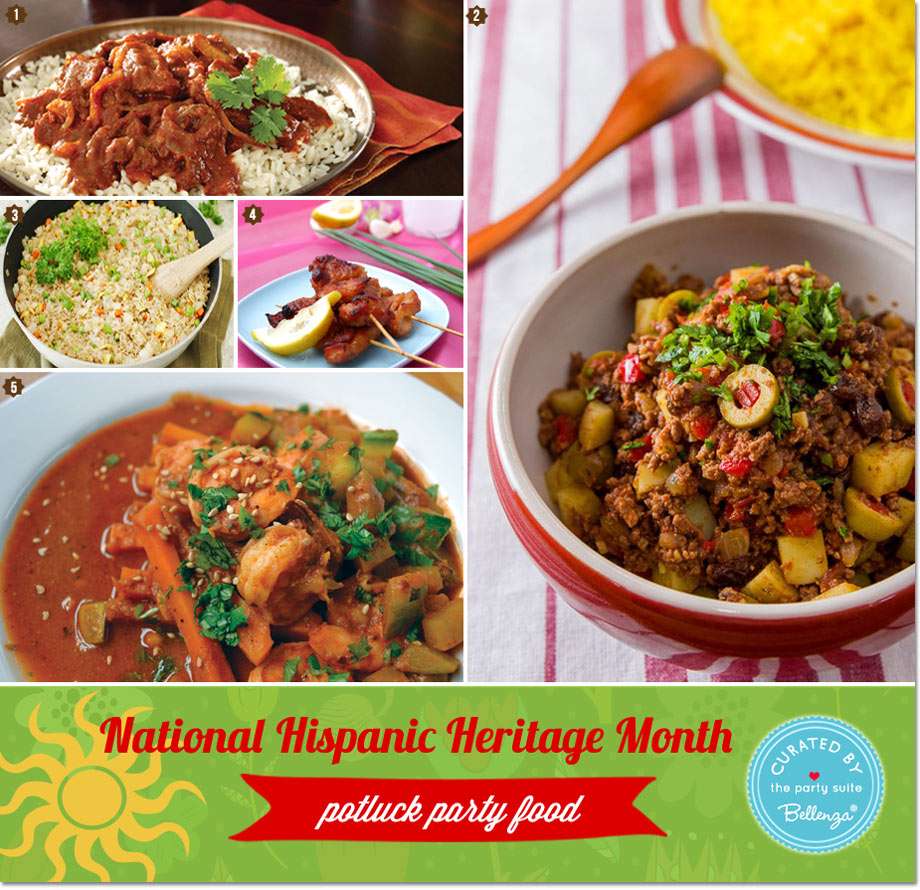 Potluck Party Menu Ideas National Hispanic Heritage Month
