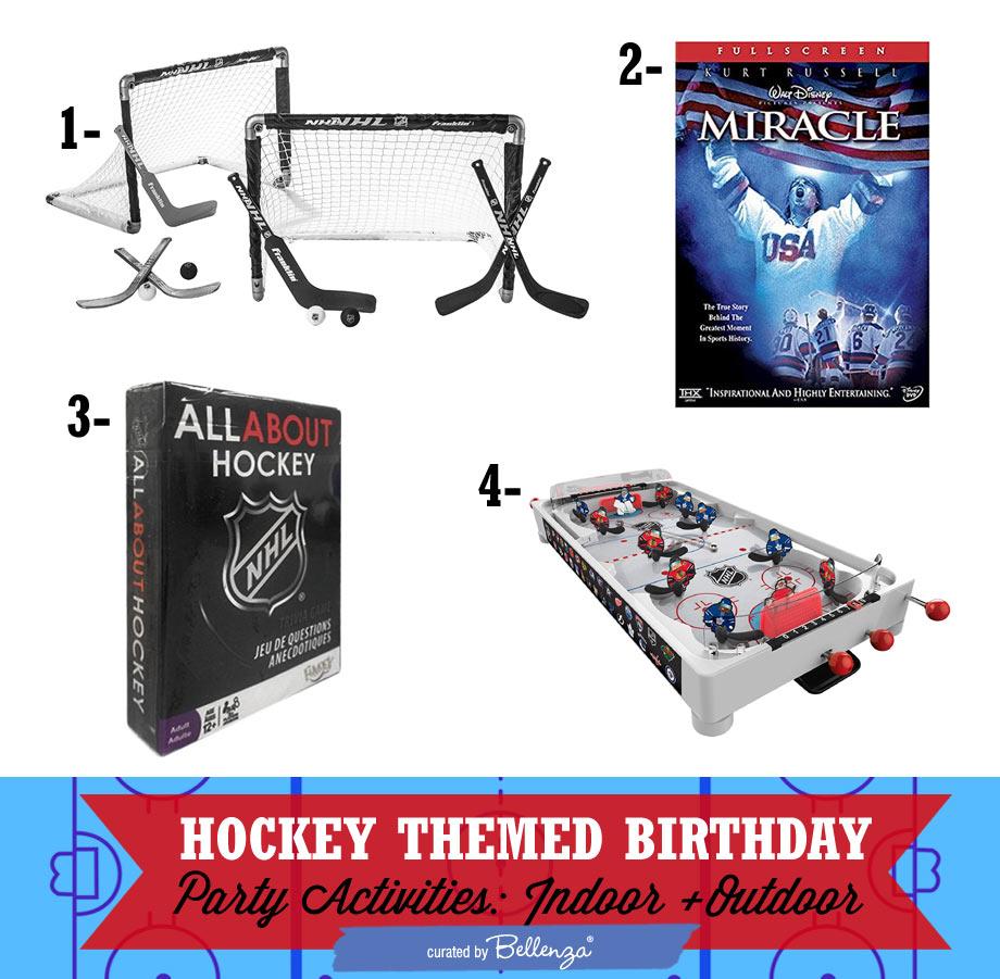 Hockey Party Activities. Indoor and Outdoor