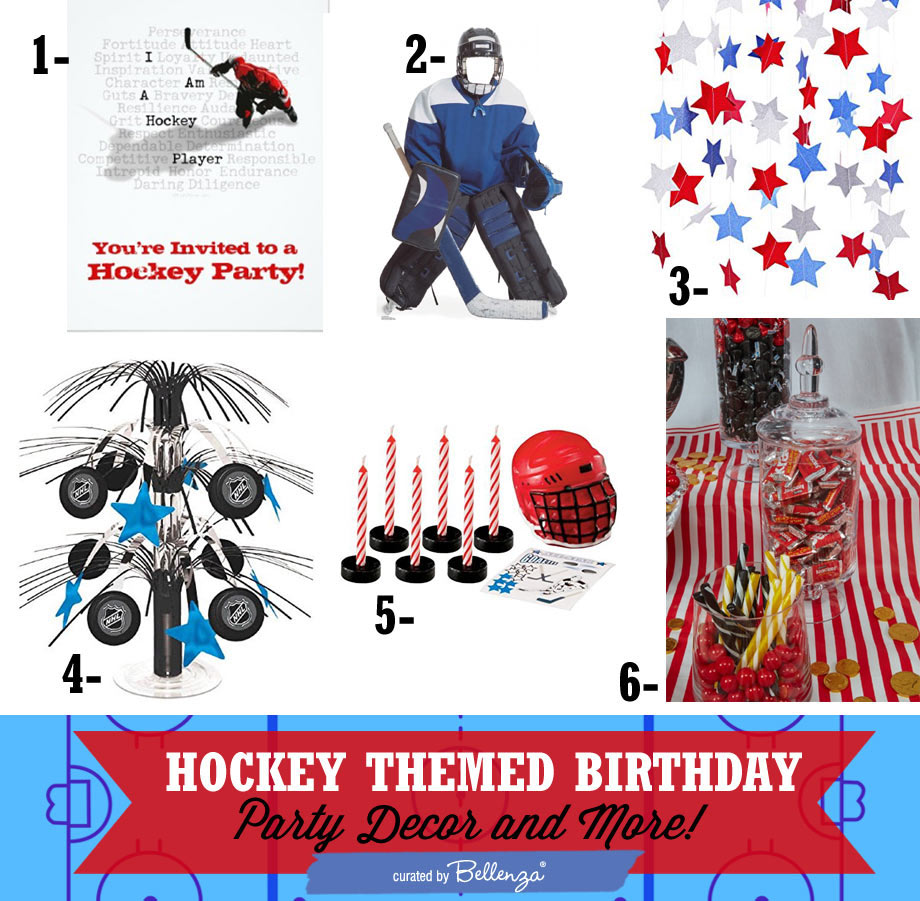 Boy's hockey theme birthday theme