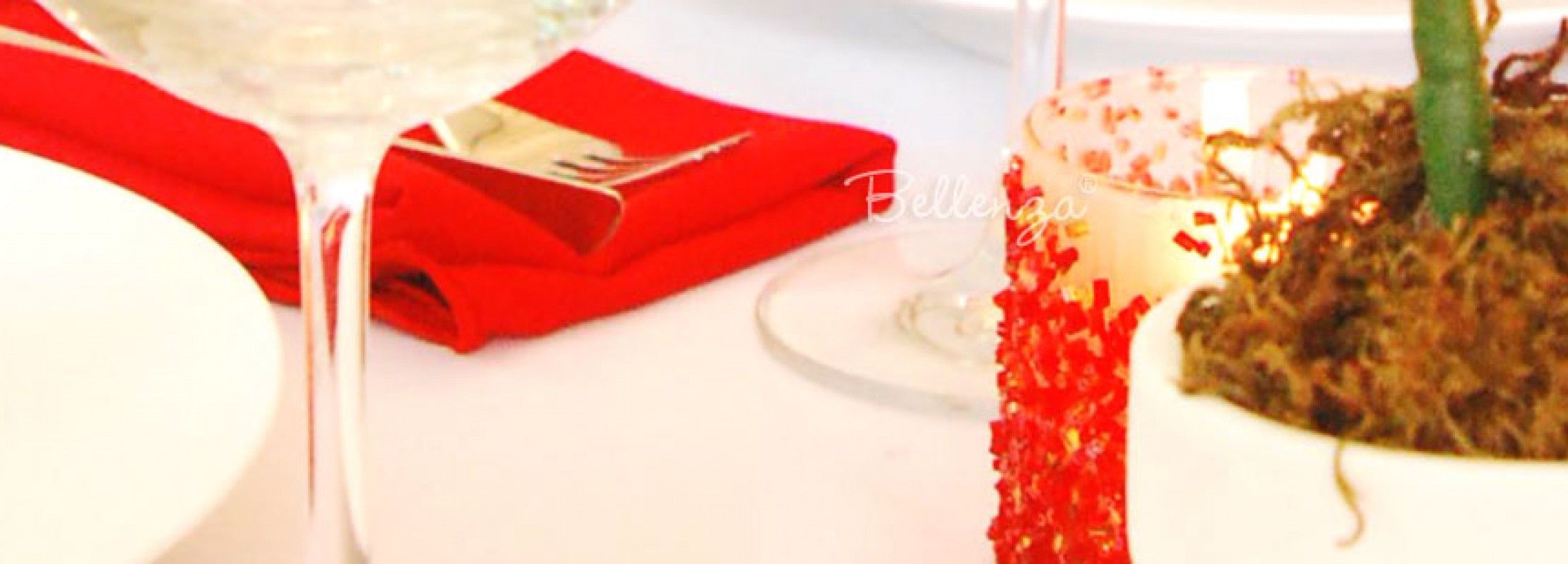 Glitter and Beads Table Number and Centerpiece