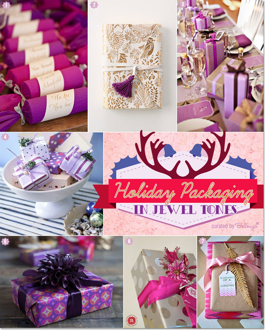 Glamorous Holiday Gift Packaging in Pretty Purple and Fuchsia!