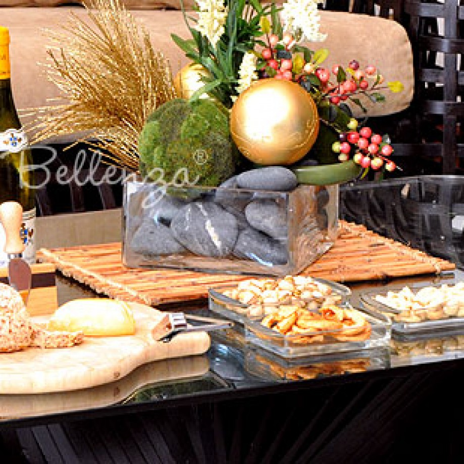 Coffee table wine and cheese party