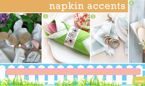 Easter napking accents