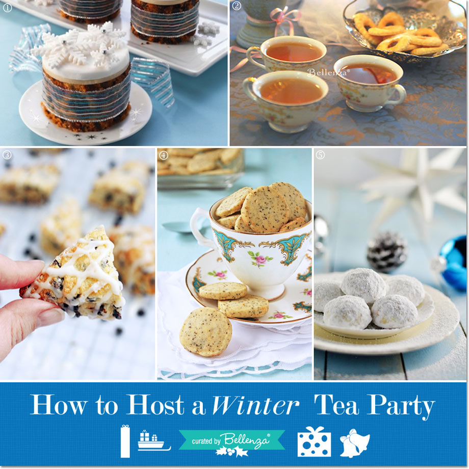 Hosting a winter tea party // curated ideas by Bellenza.