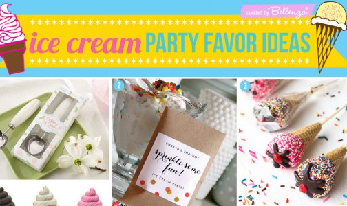 Ice cream social party favors.