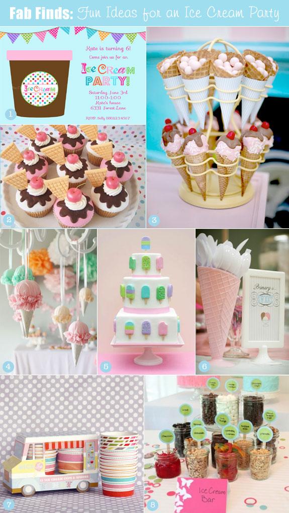 Ice cream party theme