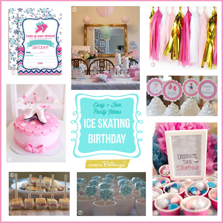 Easy And Fun Ideas For An Ice Skating Themed Pre Teen Birthday Party