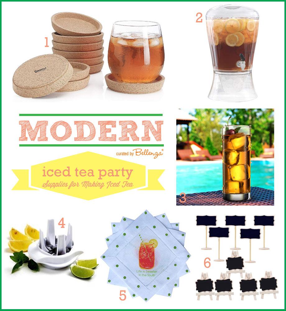 Ice tea party supplies