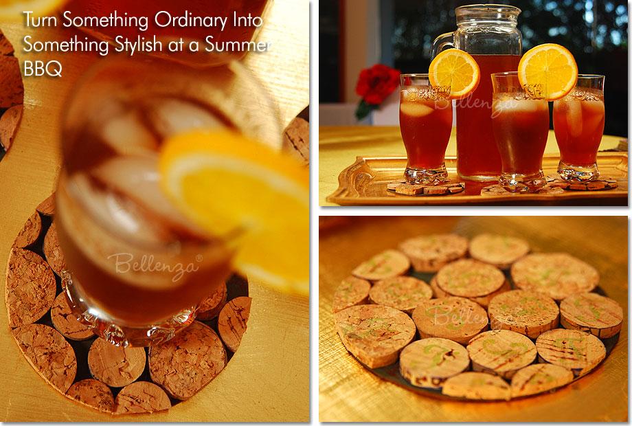 serve cold tea to guests