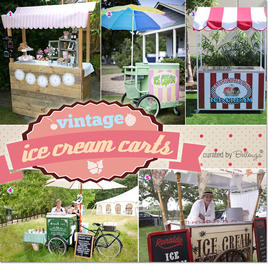 Ice cream carts with a vintage flair as curated by Bellenza.